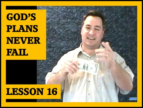 Gospel Magic Lesson Trick 14 God's Plans Never Fail