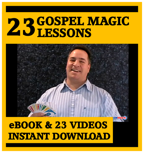 Magic for Jesus Gospel Magic Lesson Trick eBook DVD Video Kids Church Schools Jesus
