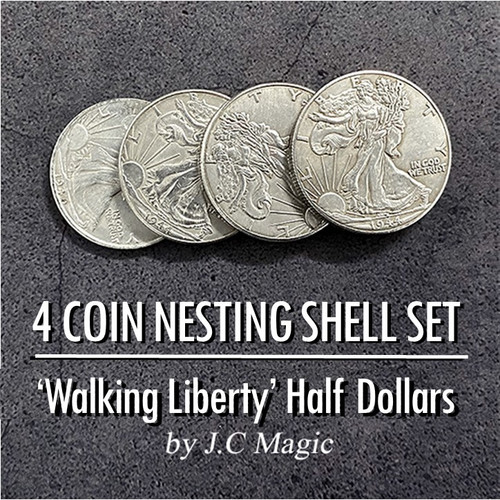 For in One Coin Magic Trick Walking Liberty Half Dollar Gospel