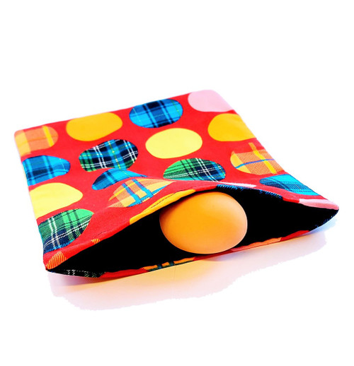 NEW - Comedy Egg Bag - Handmade Bags in Beautiful Fabric. Classic Comedy Magic as an Egg Appears & Disappear - Resurrection & New Life