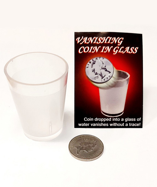 Vanishing Coin in Glass Water Magic Trick Gospel