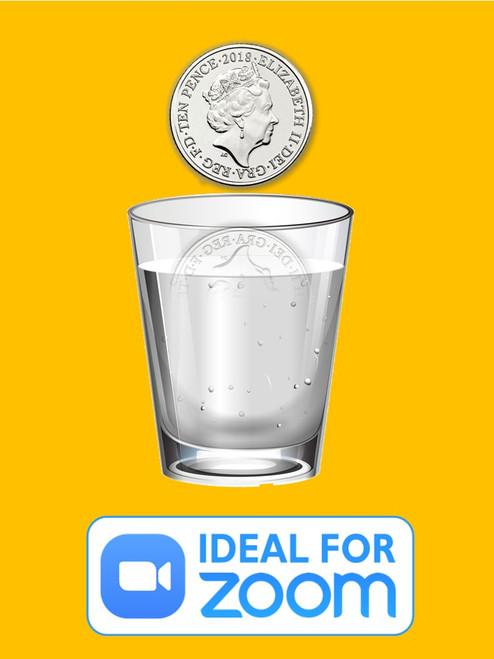 Vanishing Coin in Glass Water Magic Trick Gospel