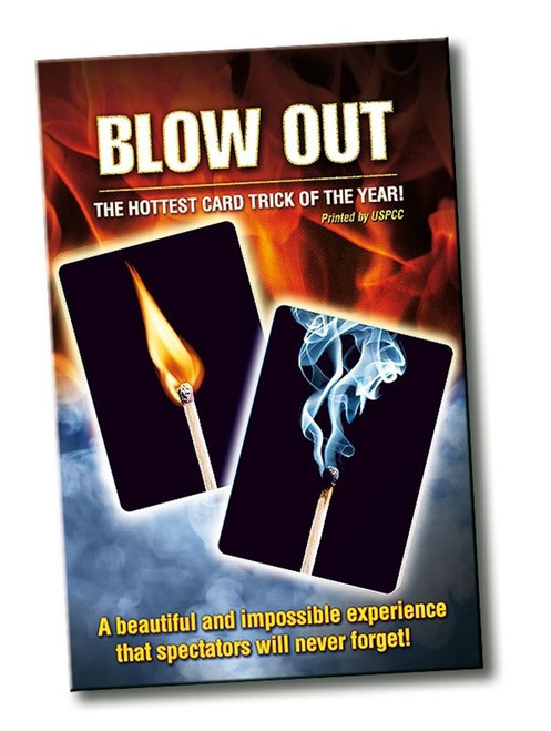 Blow Out Magic Trick Card Close -up