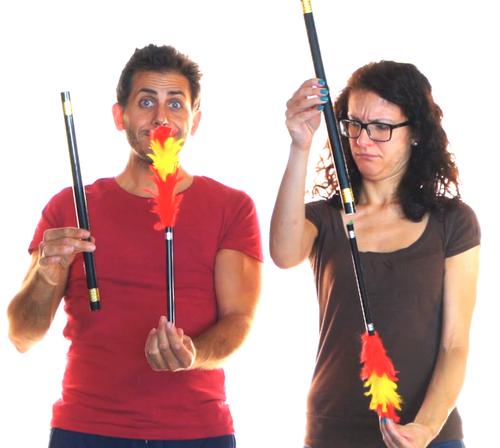 Gospel Magic Tricky Turvy Plumes Tickling Sticks Difatta Magic Trick Comedy
