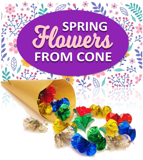 NEW - Spring Flowers From an Empty Cone -  Produce Armfuls of Flowers at Easter & Harvest - Blooming Marvellous!
