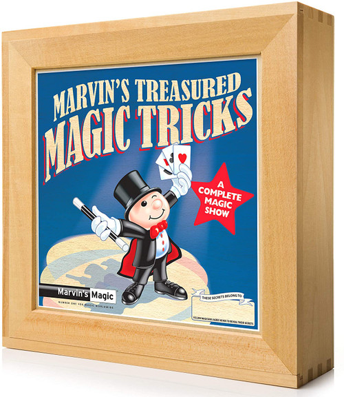 NEW - Marvins Deluxe Wooden Magic Set - Treasured Magic Tricks - Great Selection of Classic Props