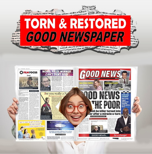 Good News Torn & Restored newspaper magic trick