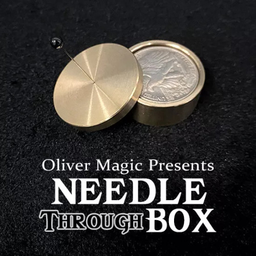 Oliver Magic Needle Thru Brass Box Magic Trick