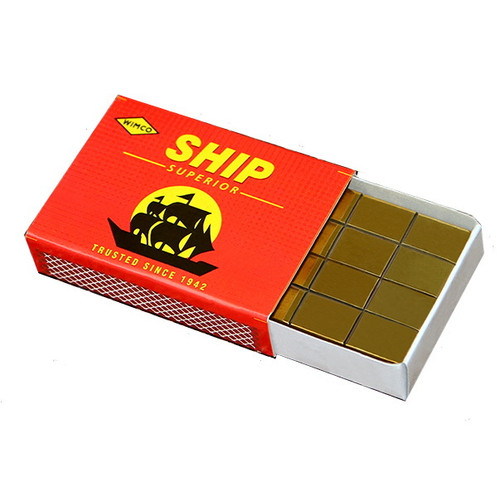Match Box Penetration Solid Brass Block Magic  Trick