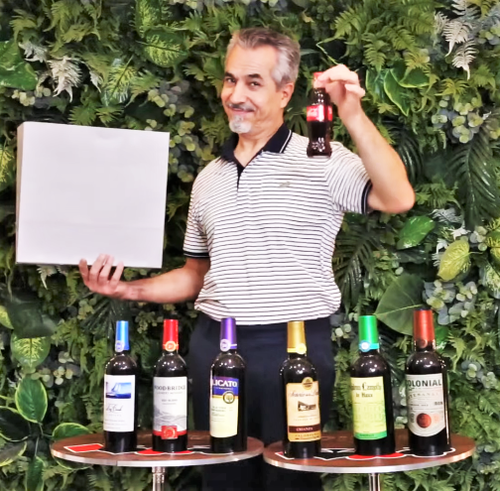 7 Wine Bottles from Empty Bag Tora Magic Trick Classic