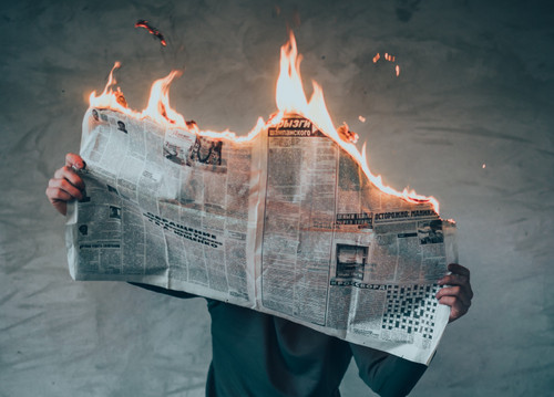 NEW - Tora's Fire Newspaper - Your Paper Bursts into Flames! - Holy Spirit & The Good News
