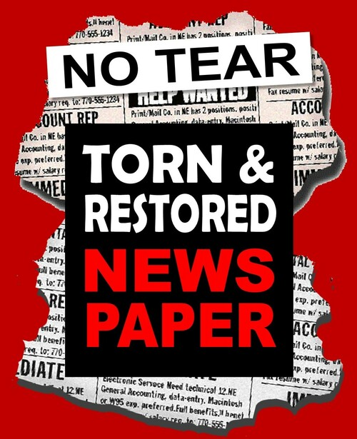 NEW - The No Tear Torn & Restored Newspaper by JB Magic - Easy Stunning Effect - Torn Pieces VISIBLY Turn Into a Restore Newspaper