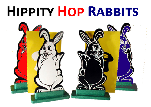 NEW - Hippity Hop Rabbits - STAGE SIZE - Classic Magical Fun Everyone Enjoys with Colour Changing Rabbits