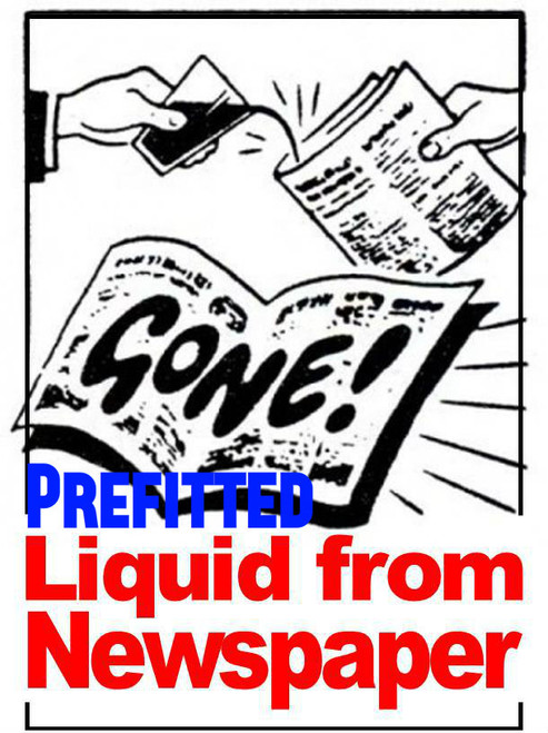 Liquid from Newspaper Prefitted