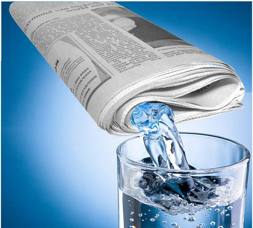 Liquid from Newspaper Magic Trick Gospel