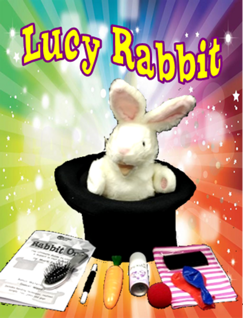 Lucy Rabbit in Hat puppet with props Magic Trick Gospel