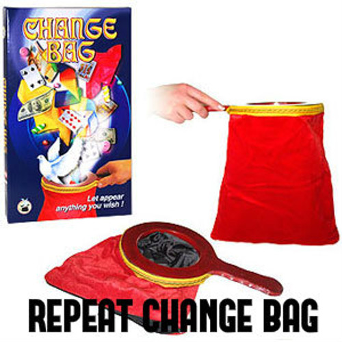 Red Zipper Pro Change Bag Magic Trick