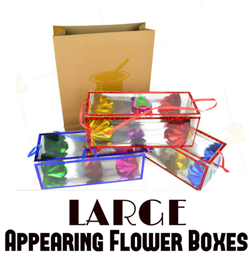 Large Appearing Flower Boxes Dream Bag Magic Trick