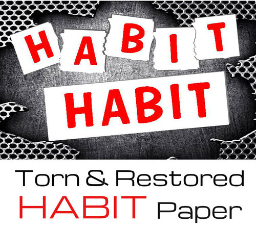 Habit paper tear Gospel Magic