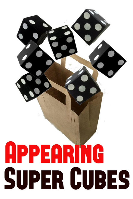 Dice From Bag Magic Trick - Appearing Super Cubes