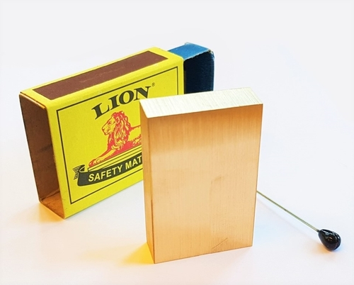 Brass Block Match Box Penetration Magic Trick