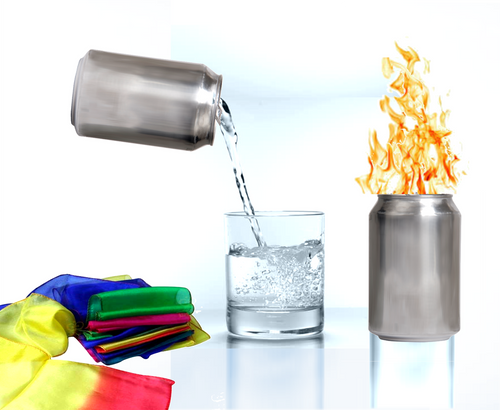 Holy Spirit Fire Can - x3 Effects with x1 Can -  Flames, Liquid and Scarves appear as if by magic.