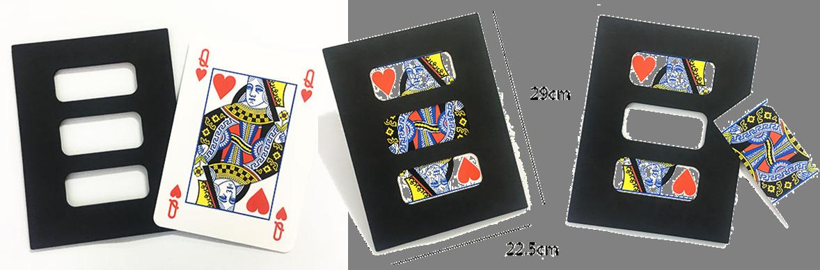 Stage Magic Tricks Jumbo Zig Zag Card