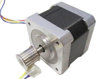 NEMA 17 Dual Shaft Stepper motor with 10mm belt gear