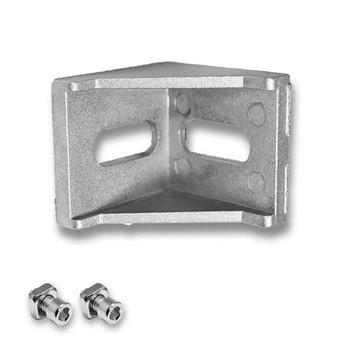 25 Series T Slot Aluminum Corner Bracket w/Screws and Nuts