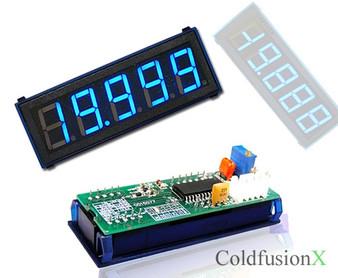 4-1/2 Digital Blue LED 20V Meter