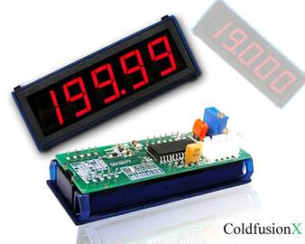 4-1/2 Digital Red LED 200A Current Meter