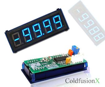 4-1/2 Digital Blue LED 100A Current Meter