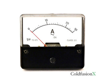AC 0-30A Analog Current Panel Meter
