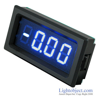 3-1/2 Digital Blue LED DC 20A Current Meter (8135)