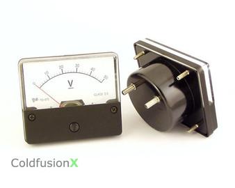 DC 0-50V Analog Panel Meter