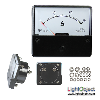 DC 0-30A Analog Current Panel Meter