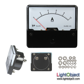 DC 0-10A Analog Current Panel Meter