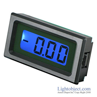 3-1/2 Digital Blue LCD DC 2V 20V Meter (8035)