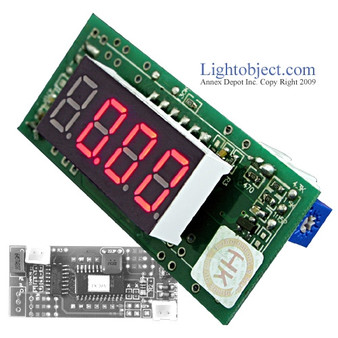 Miniature 3-1/2 Digital Red LED DC 20V Meter