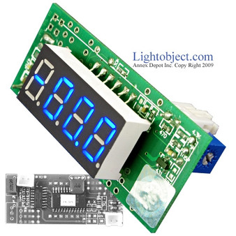 Miniature 3-1/2 Digital Blue LED DC 200V Meter