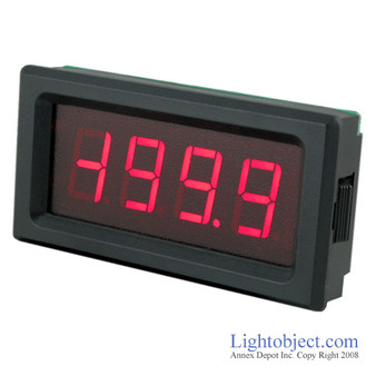 3-1/2 Digital Red LED DC 200V Meter  (8135)