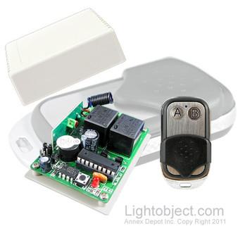 2Ch RF Remote Control 1527 Tx/Rx Kit (metal case)