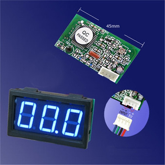 3 Digit Mini Blue LED DC 100V Volt Meter