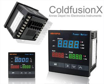 Programmable Triple Displays Digital AC Single Phase Power Watt Meter (with RS485)