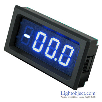 3-1/2 Digital Blue LED DC 500A Current Meter (8135)