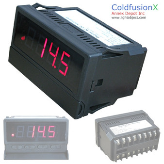 Programmable 4 Digit Red LED AC/DC Volt Meter with Dual Control. Good for HHO System
