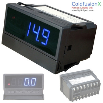 Programmable 4 Digit Blue LED AC/DC Amp/ Current Meter with dual control. Good for HHO System