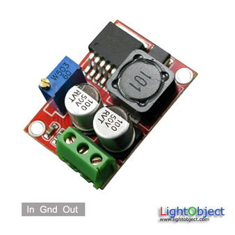 DC to DC power module (step up) Input 3.5V~26.5V Output 5~28V. Ideal for solar panel regulator