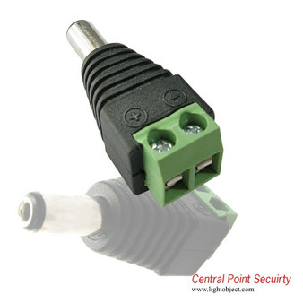 Cableless Female Power Connector for CCTV DVR Camera