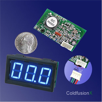 3 digit Mini Blue LED 1A Current Meter